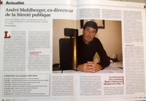 """André Muhlberger, ex director of the Public safety"". Read the article in full here. BIMCAM obviously has more. ."
